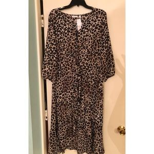 New York & Company Tops - NWT New York And Company High Low leopard top